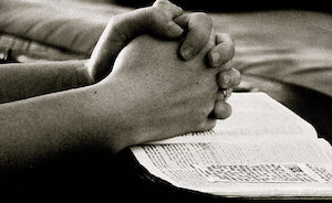 Two hands in praying position
