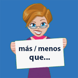 Comparisons of inequality in Spanish with Mas que and Menos que - Learn and practice