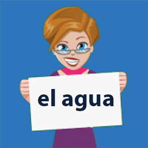 Is agua masculine or feminine in Spanish