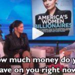 Kylie Jenner no lleva dinero en metálico