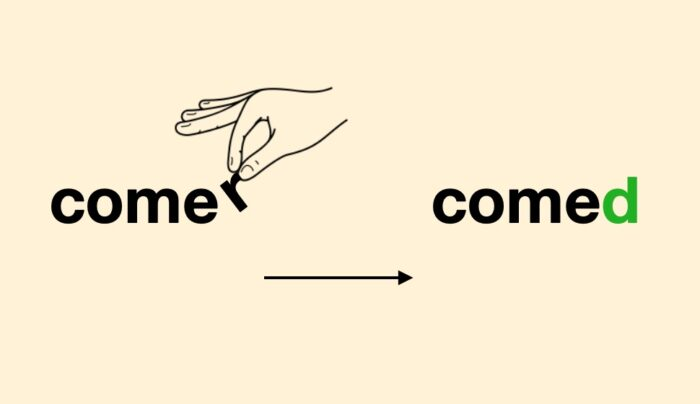 """A graphic that illustrates how to form Spanish affirmative """"vosotros"""" commands"""
