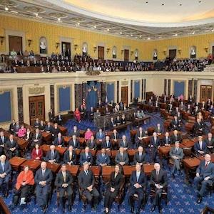 Una foto del interior del senado