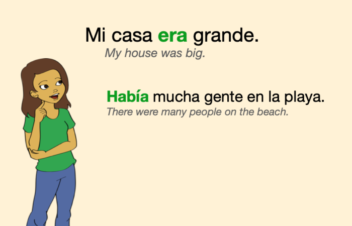 A couple of sentences in Spanish Imperfect Tense
