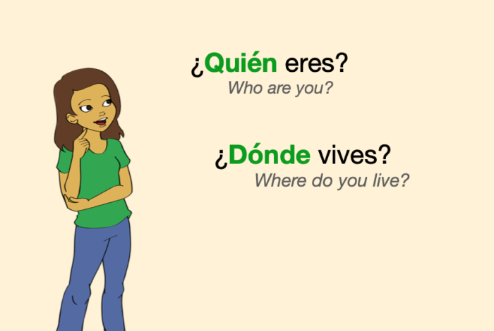 Two easy questions in Spanish