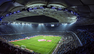 Un estadio de fútbol